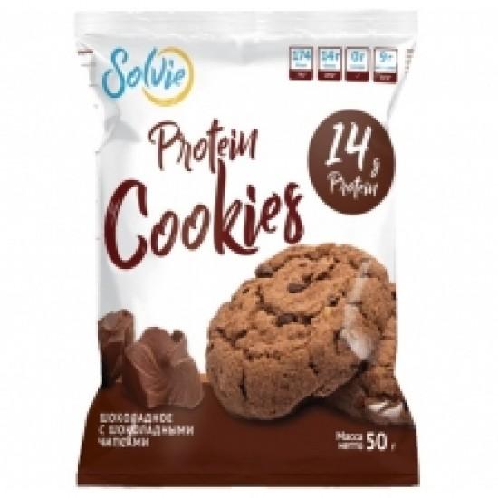 Solvie Protein cookies 50 g (x10) Кокосовое с кокосовой стружкой